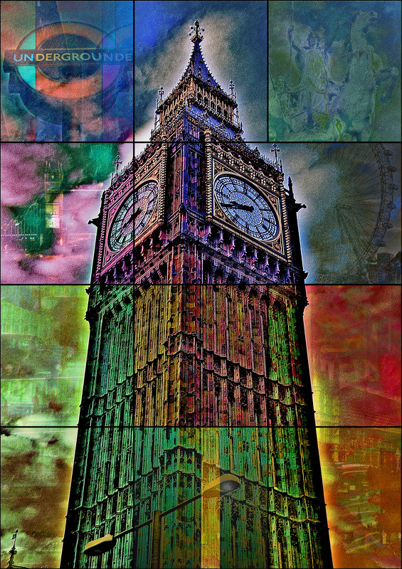 UK London BigBen PhotoArt by Platux art works