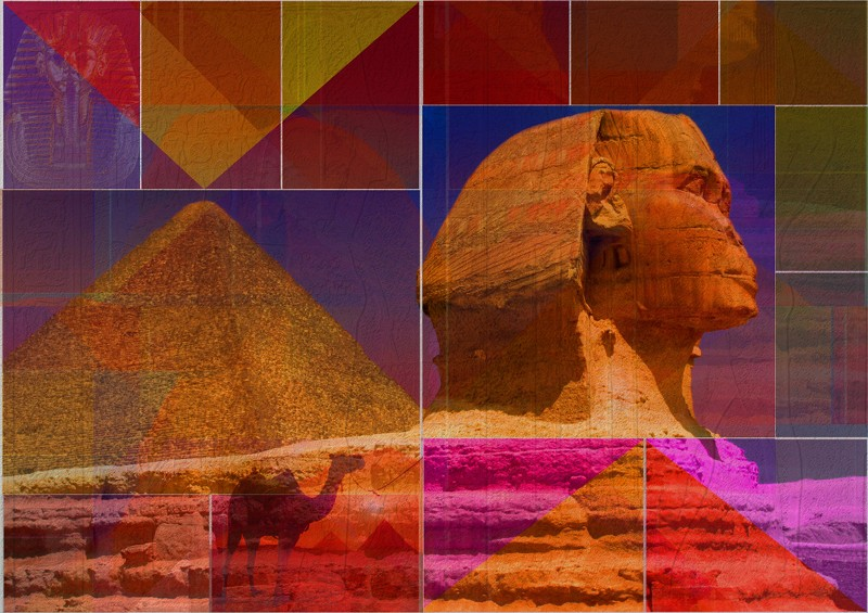 Egypt Pyramid & Camel Photo-Art