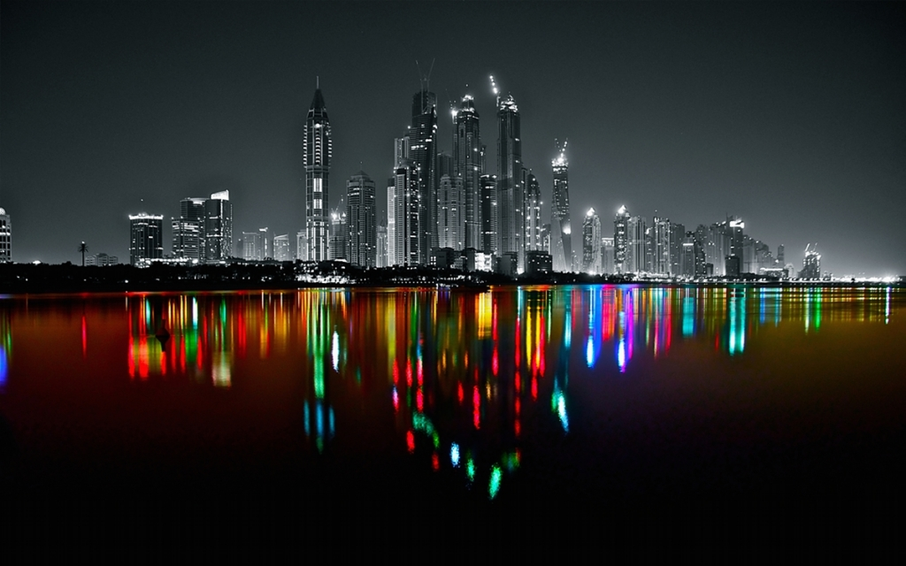 Dubai Marina Skyline by Platux Modern ART Photography