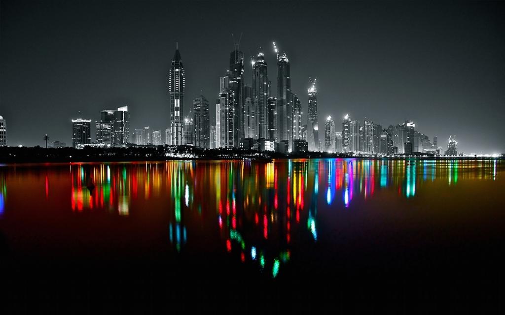 Dubai Marina Skyline by Platux Modern ART Photography