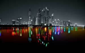 Dubai Marina Skyline Photo Art by Platux