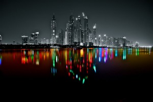 Dubai Marina Skyline Photoart by Platux