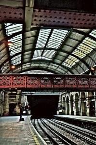 Waiting for the Underground in LondonPaddington Station