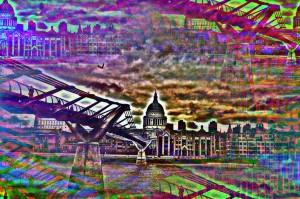 Millennium Bridge London St. Paul Cathedral