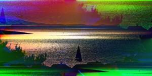 Modern Art Croatian Sea Yacht by Platux Photography Artist