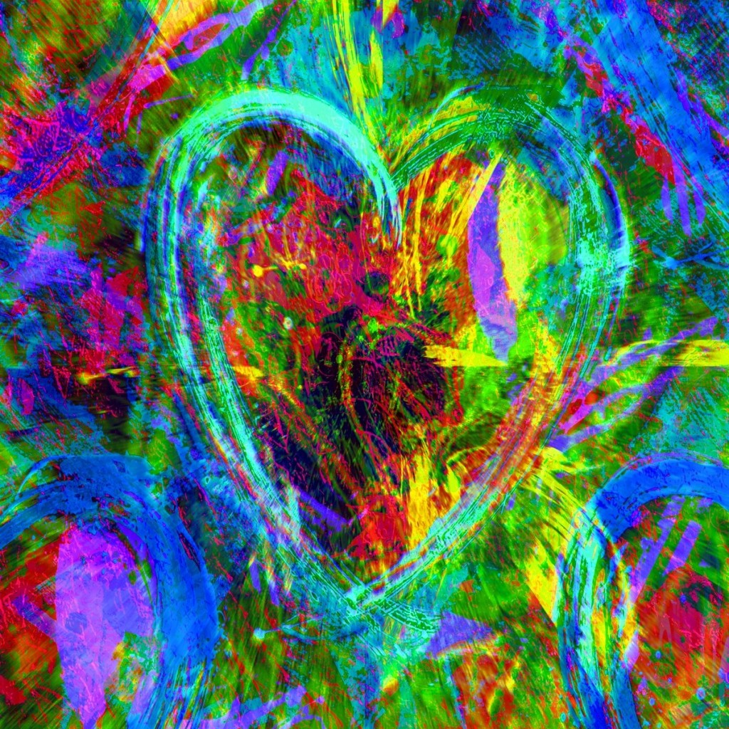 Modern Art Heart 11 by PLATUX ART Photography