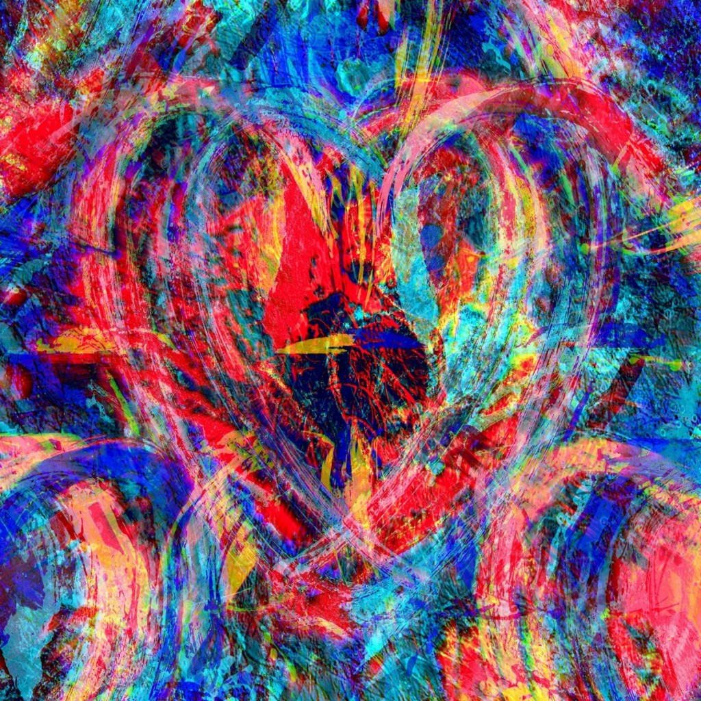 Modern Art Hearts 22 by PLATUX ART Photography