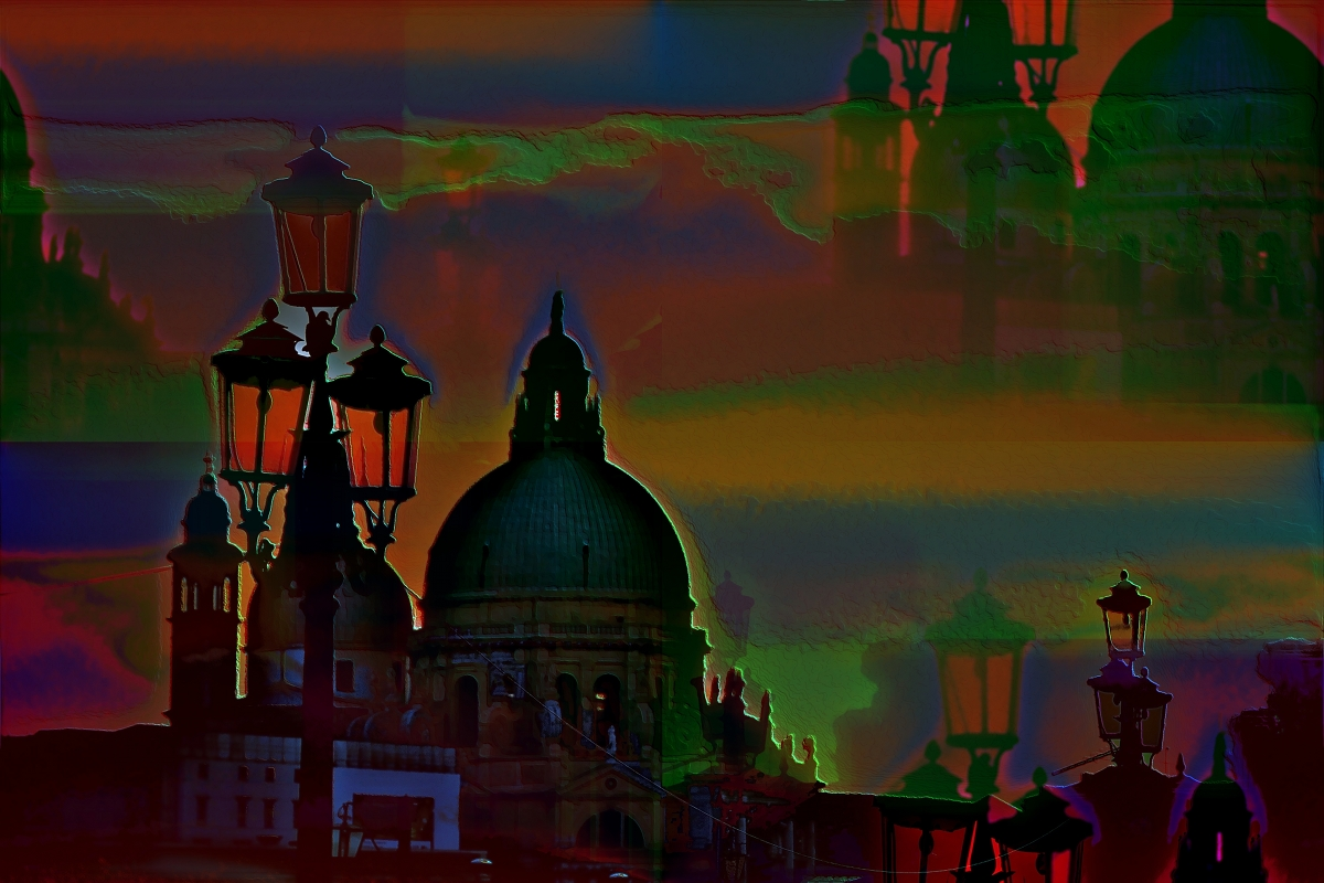 Venice Night modern art photography PLATUX Artist Gallery