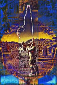 Wasserburg Anholt Skulptur PLATUX MODERN ART Fotokunst Artwork 122