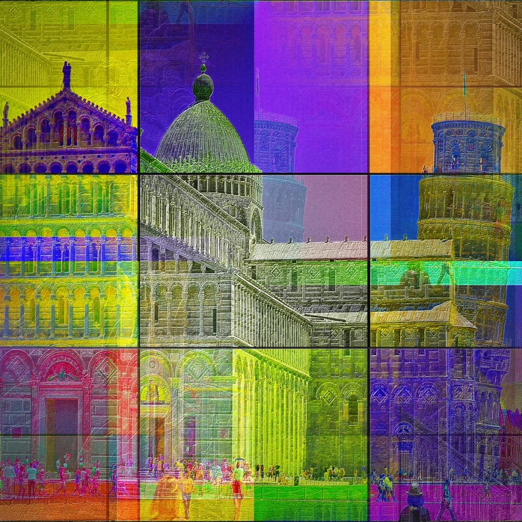 Leaning Tower of Pisa - City Art - PLATUX modern art 2011/2016