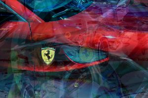 Ferrari Artwork PLATUX-2016 metallic-Style Luxury Art Sportscar Supercars