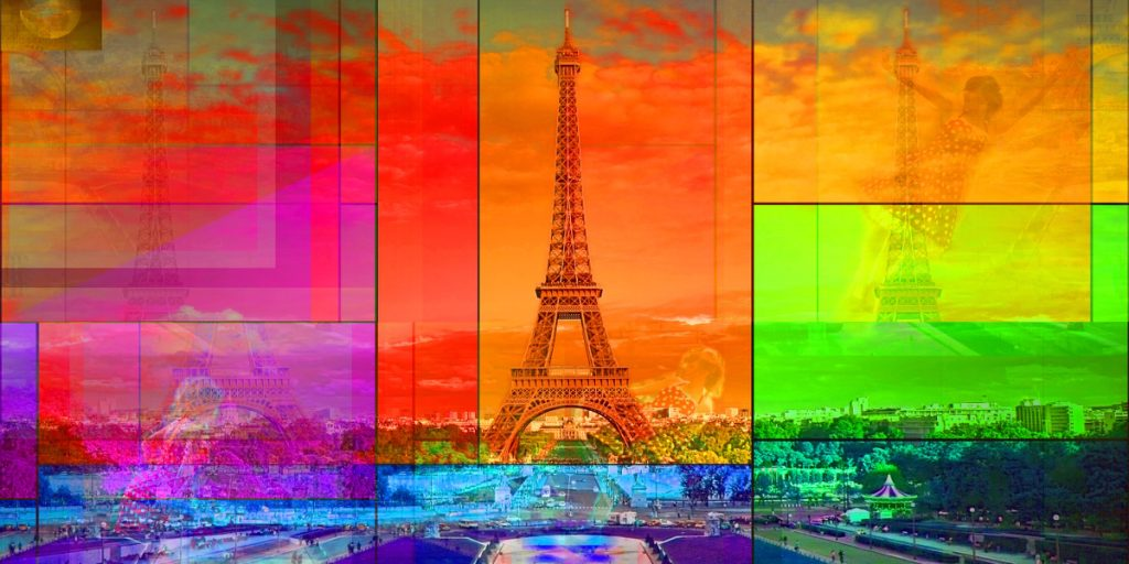 Tour de Eiffel Paris 2012/2016 PLATUX Photo Art on Aluminum Dibond with acrylic glass 80x40cm